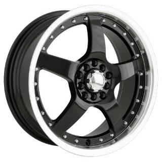 Akita Racing AK8 480 Black Wheel with Machined Lip (17x7/10x100mm)
