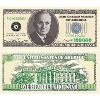 SET of 5 John F Kennedy Novelty 50,000 Dollar Bill: Toys & Games