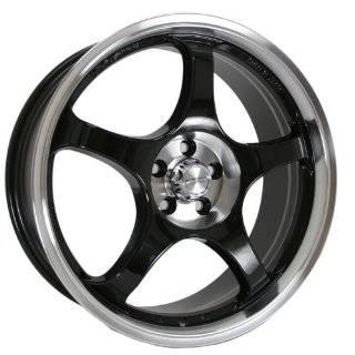 Akita Racing AK 90 490 Black Wheel with Machined Lip (17x7