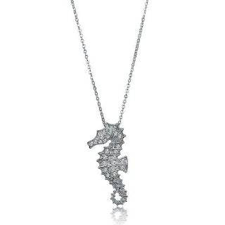 Sea Horse Sterling Silver Ocean Theme Jewelry Charm Pendant Chain