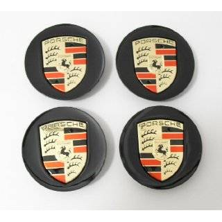 4pcs Set Porsche Black with Gold Wheel Center Caps 997 993 911 968