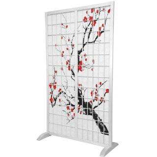 Stable   5 ft. Tall Japanese Cherry Blossom Art Freestanding Room