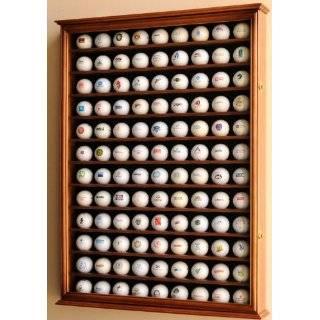 108 Golf Ball Display Case Cabinet Wall Rack Holder w/ UV