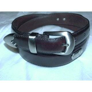 Or Black Genuine Leather Golf Belt 1.10 Inches By Landes: Clothing