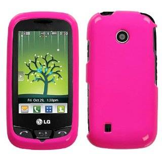 LG COSMOS TOUCH VN270 BLACK/HOT PINK ZEBRA HARD CASE Cell