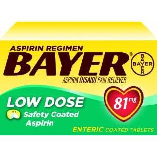 Bayer Aspirin Regimen Low Dose 81mg Enteric Coated Tablets