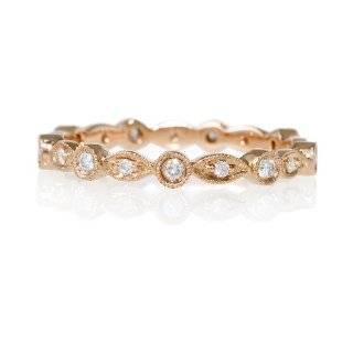Antique Style 18k Rose Gold Eternity Wedding Band Ring Jewelry