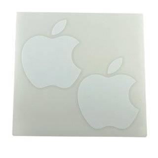 Apple Logo Die Cut Vinyl Decal Sticker 4 White