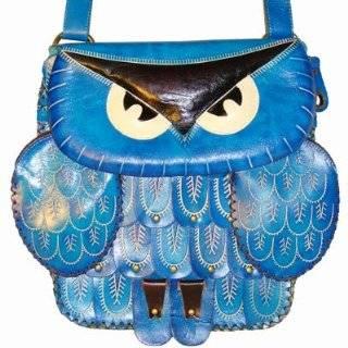 Lovely Owl Designs, Genuine Cowhide Leather Shoulder/crossbody Bag, a