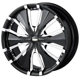 (Series 714) Black with Chrome Lip   18 x 8 Inch Wheel Automotive