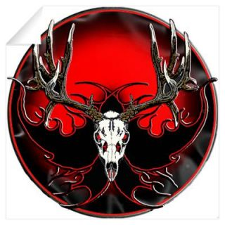 Mule deer,skull flames Wall Decal