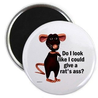 Animal Gifts > Animal Magnets > Rats Ass Magnet