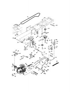 Model # 917274041 Craftsman Tractor   Chassis and enclosures (44 parts