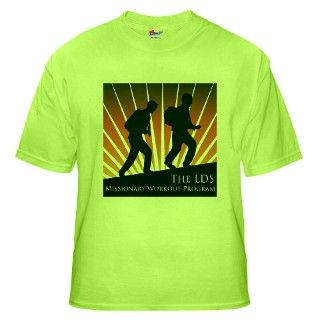 > Lds Church T shirts > lds missionary workout shirt Green T Shirt