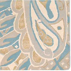 Hand tufted Mojave Blue Wool Rug (5 x 8)