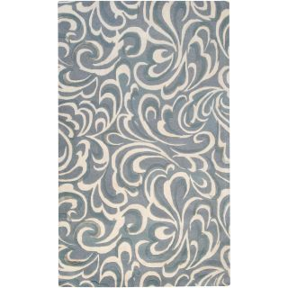 Candice Olson Hand tufted Contemporary Blue/ Abstract Samnaun New