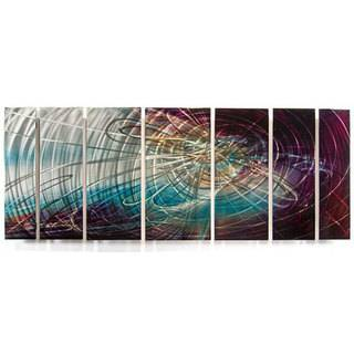 Ash Carl Dusk 7 panel Abstract Metal Wall Art