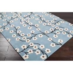 Hand tufted Duke Blue Wool Rug (5 x 8)