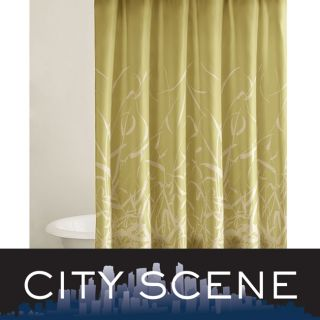 City Scene Bamboo design Shower Curtain