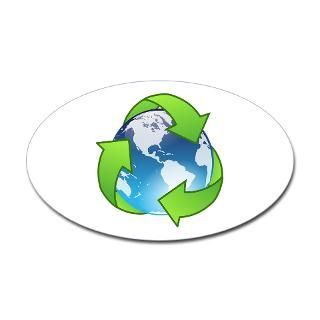 Save Earth Recycle Oval Sticker > Save the Earth   Recycle > Twilight