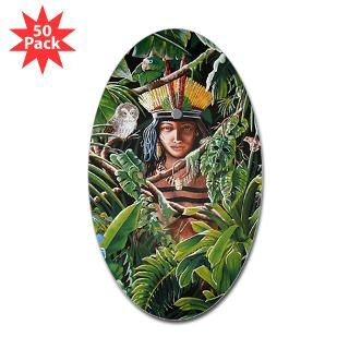 taino princess oval sticker 50 pk $ 85 99
