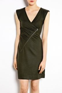 Marc by Marc Jacobs  Fiona Asymmetric Zip Wool Dress by Marc By Marc