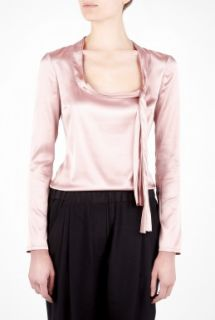 D&G  Pink Scoop Neck Collar Bow Blouse by D&G