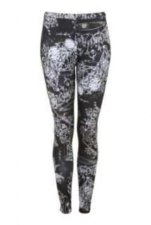 Baroque Print Leggings by Daddy Long Legs   Black   Buy Leggings Online