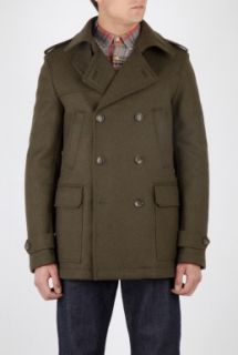 D&G  Military Green Cropped Wool Trench Coat by D&G
