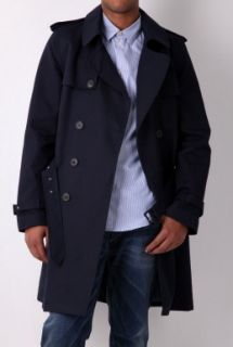 Navy Trench Coat by A.P.C.   Navy   Buy Coats Online