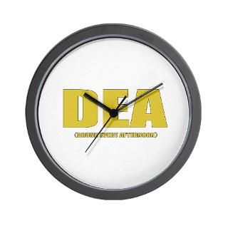 DEA (Drunk Every Afternoon) Wall Clock for