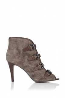 Ash  Grey Fiona Perforated Suede Strap Shoe by Ash