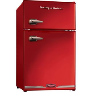 Nostalgia Electrics Retro Series 3.1 Cu Ft Compact Fridge with Freezer