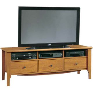 Sauder Brookstone Entertainment Credenza   Caramel Birch