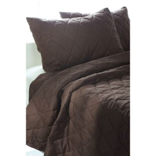 Quilted Pattern 3 Piece Quilted Comforter Set