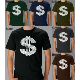 Los Angeles Pop Art Mens Dollar Sign T shirt