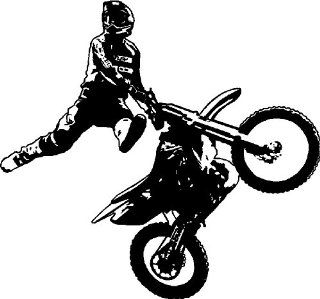 Motorcross/Dirtbike Rider Wall Stickers Decals Graphics