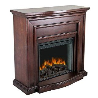 Pleasant Hearth Colby Mahogany Electric Fireplace