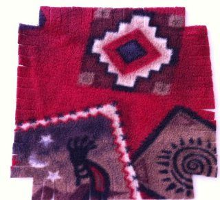 Easy Sew Fleece Rag Time Quilt Blanket Afgan Throw Kit