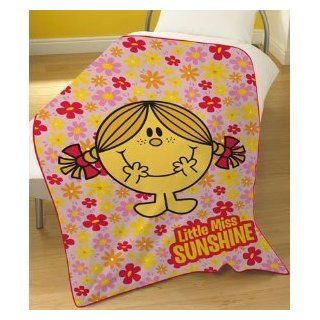 Little Miss Sunshine Pink Fleece Blanket Mr Men, Kids Room
