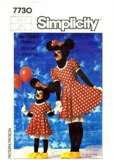 Simplicity 7730 Sewing Pattern Girls Minnie Mouse Costume