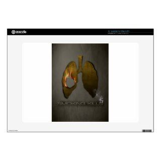 Smoking Kills lungs 15 Laptop Decals
