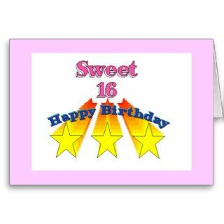 Happy Birthday Card Sweet 16