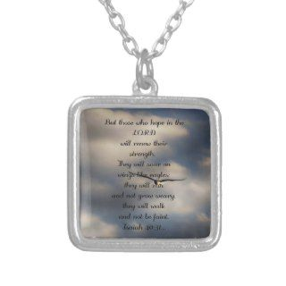 Isaiah 40:31 Custom Christian Bible Verse Gift Pendants
