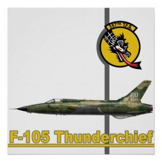 357th TFS F 105 Thunderchief Print