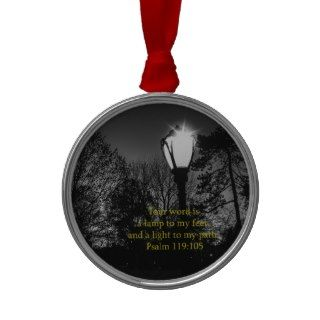 Bible Verse Psalm 119:105 Lamp to my feetChristmas Ornaments
