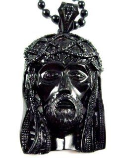 Iced Out Black Jesus Anh?nger w/36 Ball Kette L: .de: Schmuck