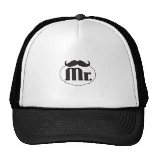 Mr. Mustache Retro Vintage Hipster Gifts Mesh Hats