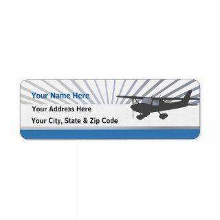 Cessna 150 Airplane Return Address Label