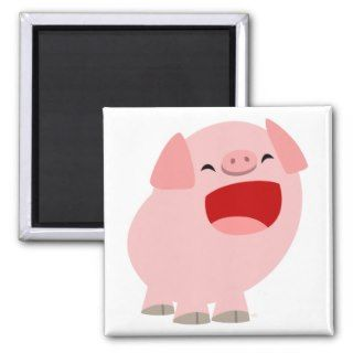 Cute Cartoon Singing Pig Magnet